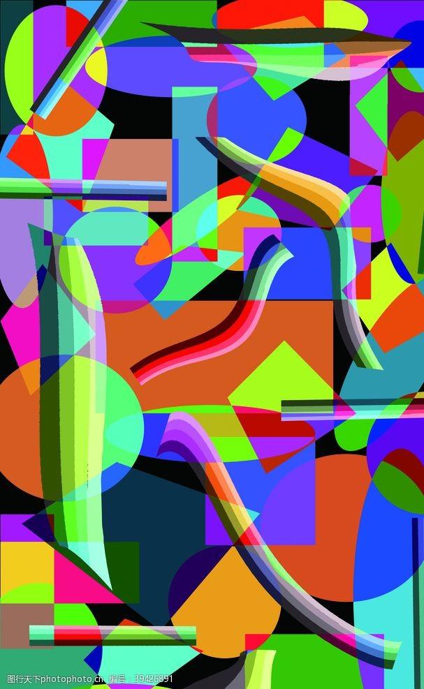 几何图形色块背景几何抽象图片