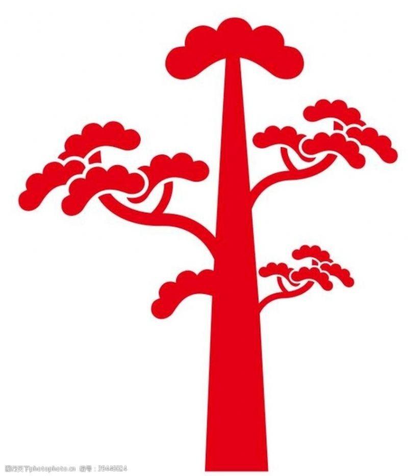 形象墙矢量松树图片