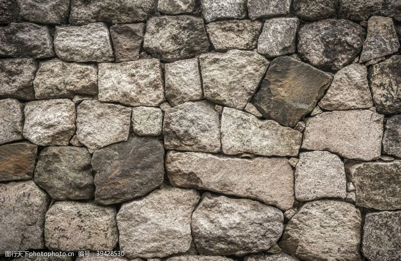墙面背景石头墙图片