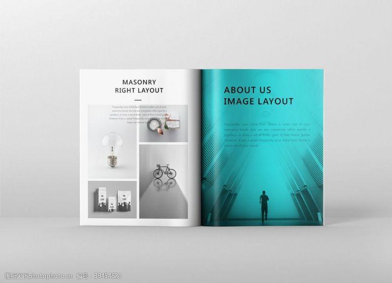 写真竖版杂志画册PSD贴图样机模板图片