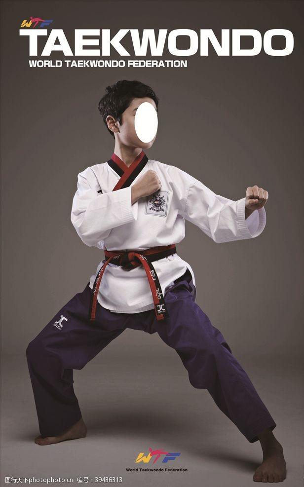 跆拳道模特图片