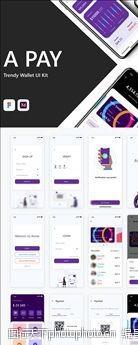 大气xd支付钱包紫色UI设计登录页图片