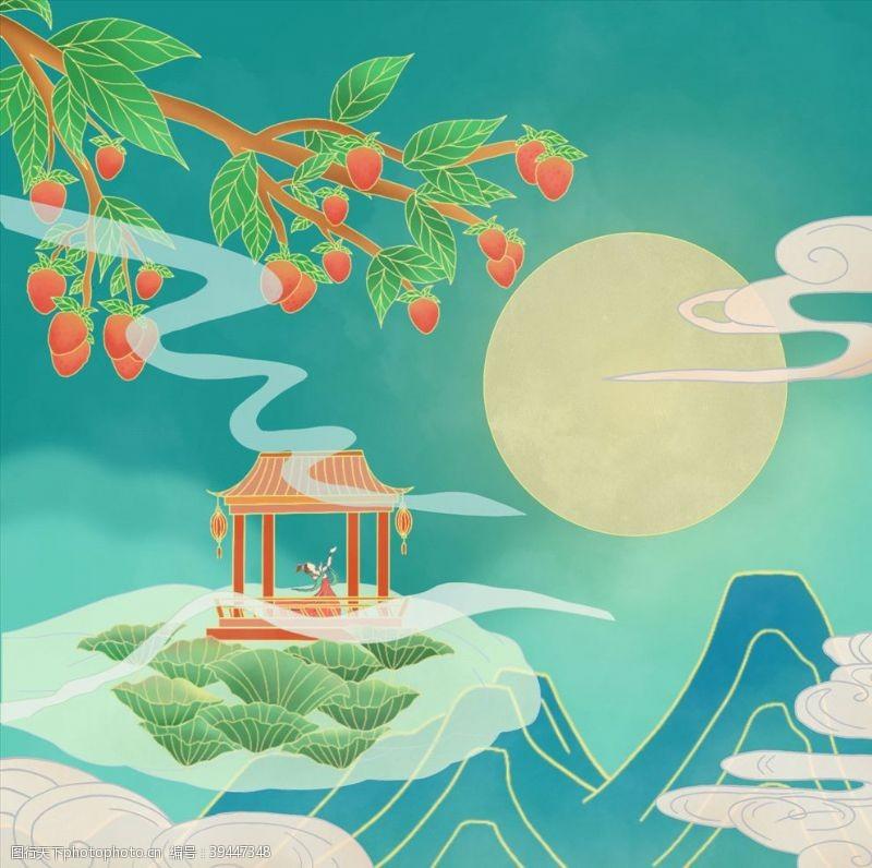 月亮晓月坠宿云微无语枕频欹图片