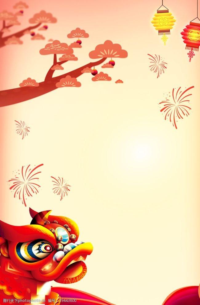 展板红色喜庆新年展板背景素材图片