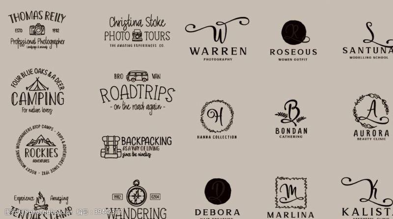 素描英文流畅手写logo图片