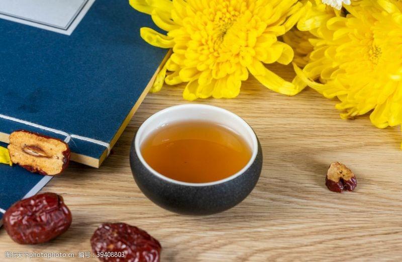 菊花茶重阳节菊花酒图片