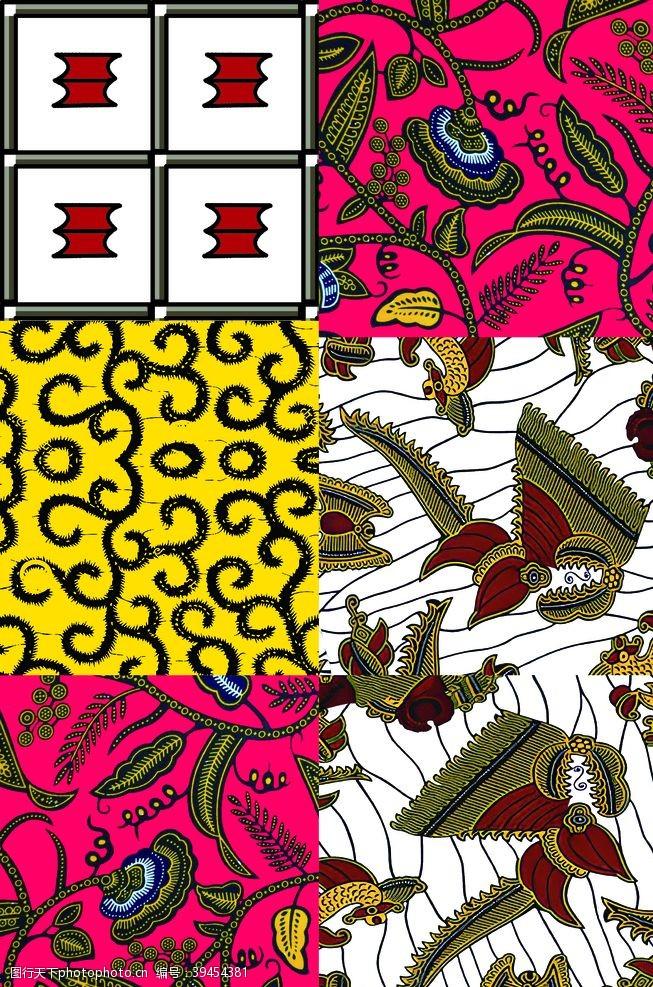 印花图案4色花图片