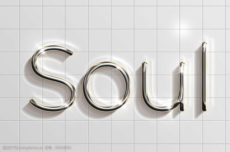 发光高端金属字图片