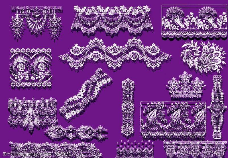 欧式花纹花纹花边底图边框素材设计图片