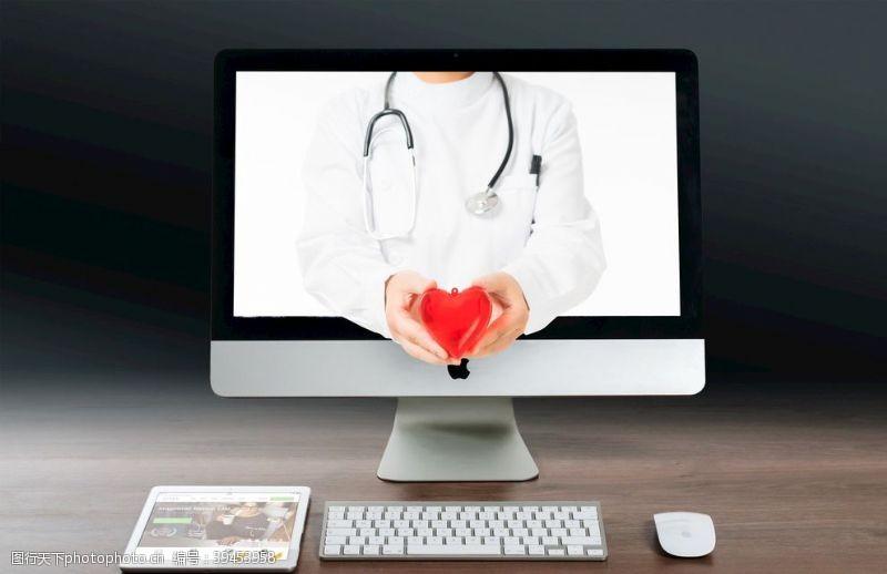 纹理互联网医疗背景图片
