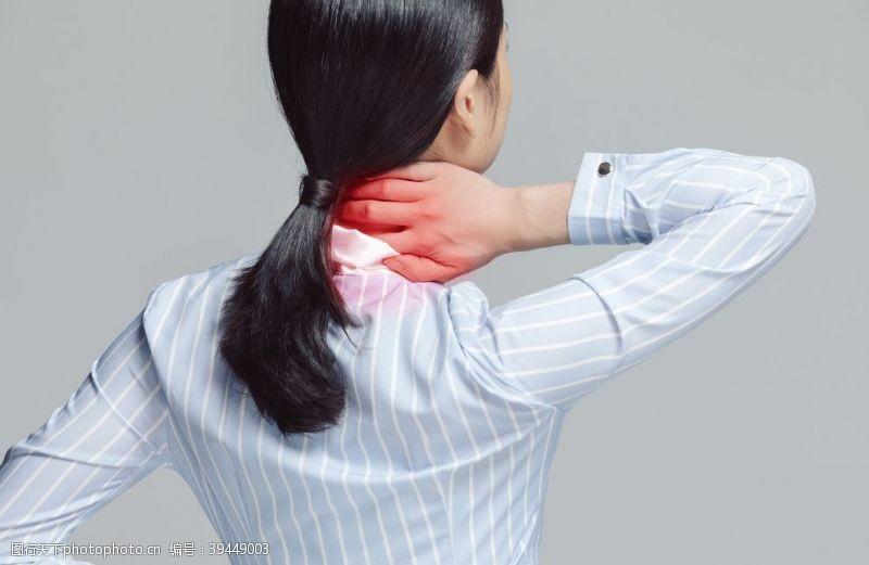 肩周炎疾病养生背景海报素材图片