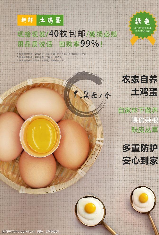 鸡蛋促销鸡蛋生鲜海报图片