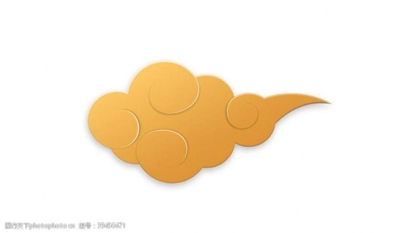 线条金色祥云云纹中国风图片