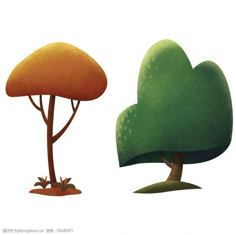 树木卡通树图片