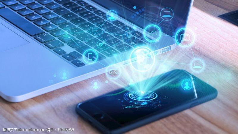 苹果手机科技手机投射图片