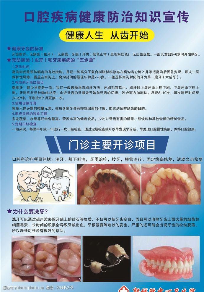 口腔疾病健康防治知识宣传图片