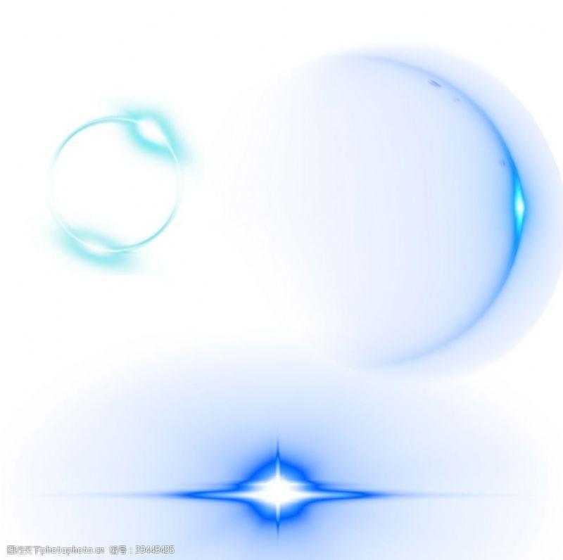 蓝光光圈图片