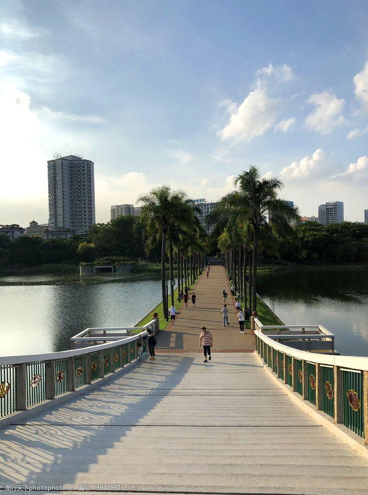 桥南宁南湖公园图片