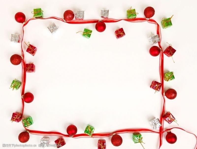 欧式花纹圣诞边框图片