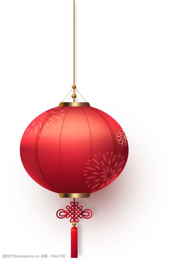 灯笼背景新年红色灯笼元素png素材图片
