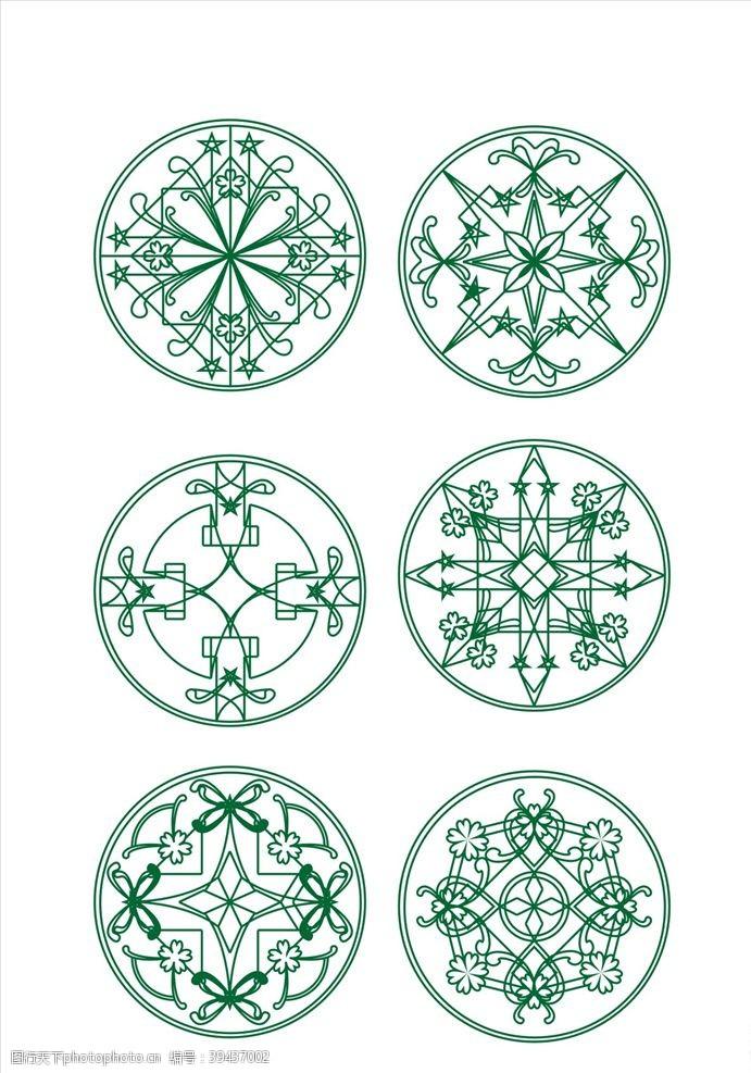 古典花边圆形精致复古花纹背景底纹图片