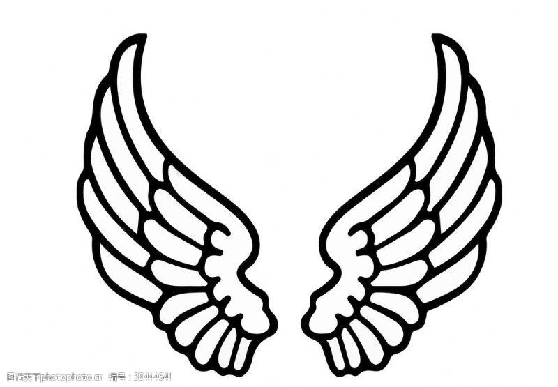 羽毛翅膀图片