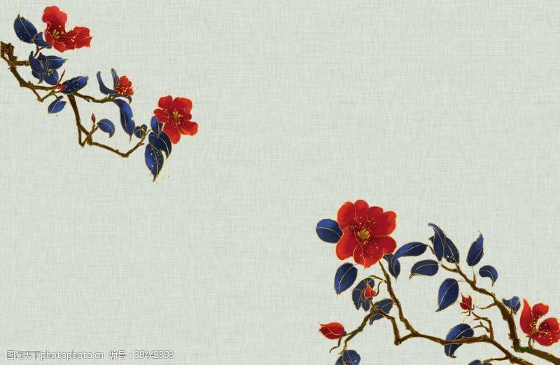 清明中国风水墨背景图片