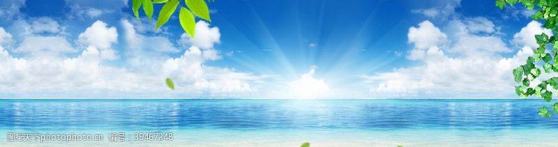水纹碧蓝大海图片