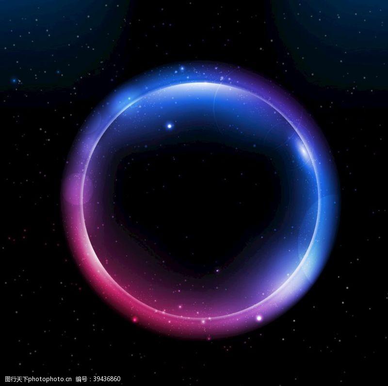 光效圆球设计炫彩海报矢量背景图片