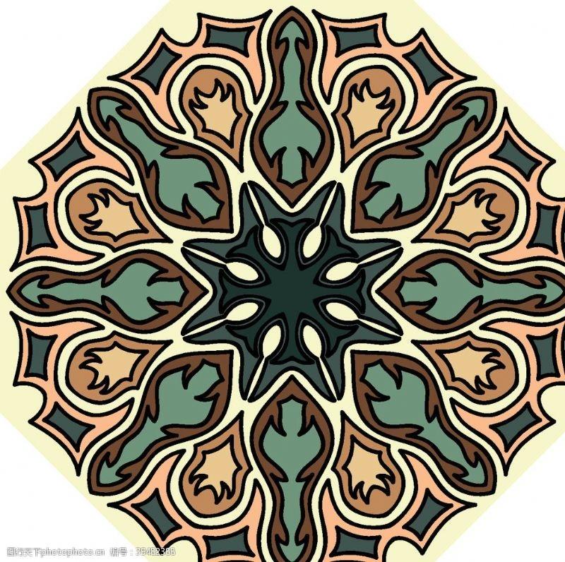 经典古典少数民族花纹底纹矢量图片