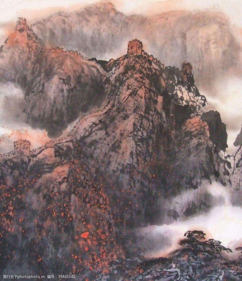 中国画国画长城图片