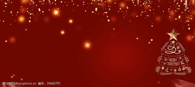 红色光影圣诞节背景图片