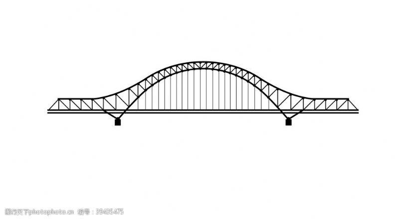 建筑线稿建筑桥梁线稿图片