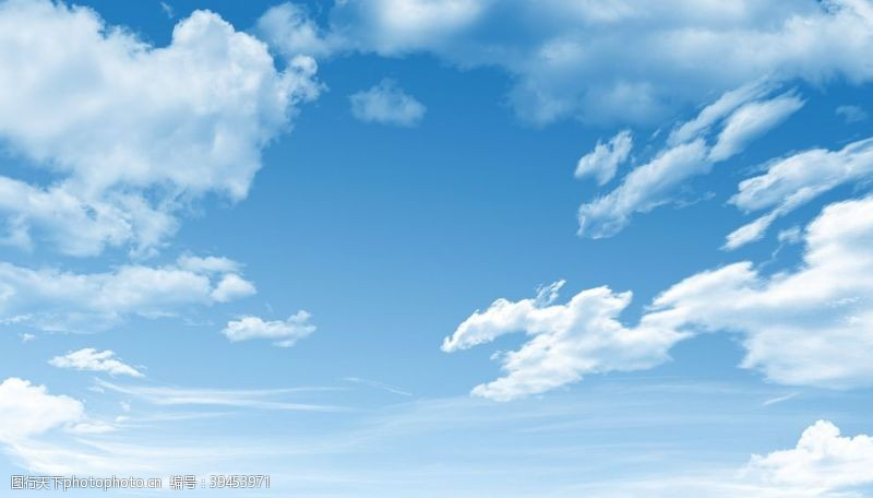唯美蓝天白云图片