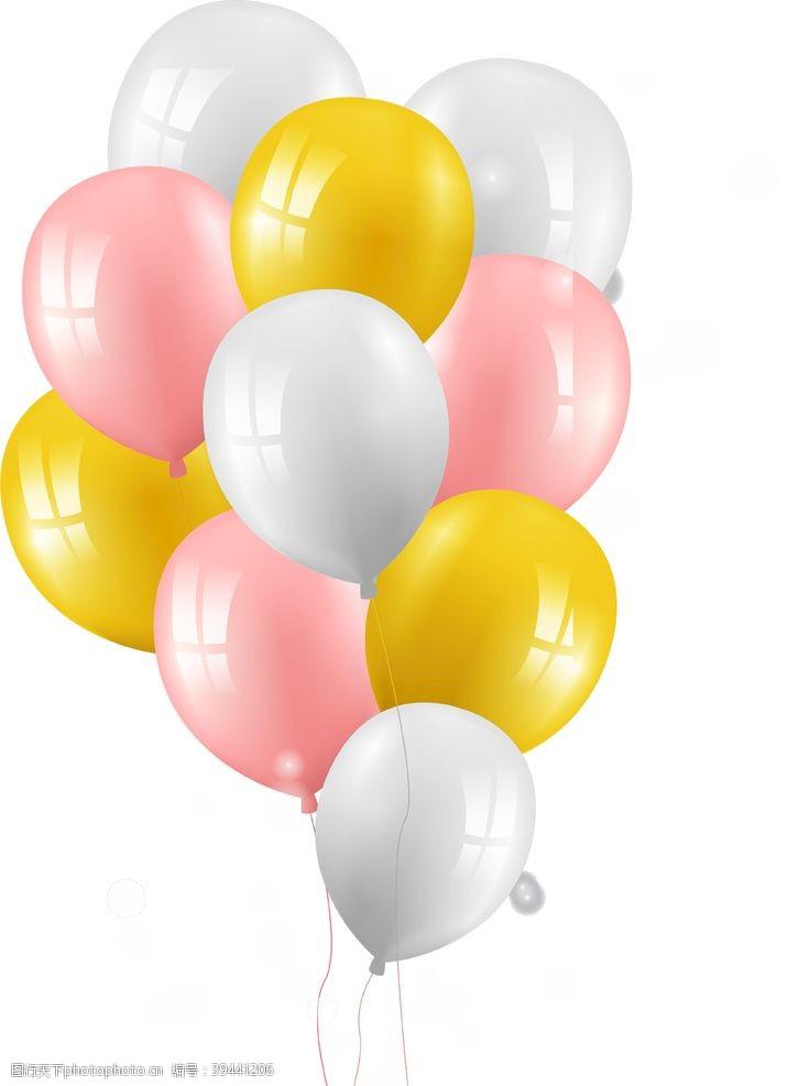 节日元素免抠气球png素材图片
