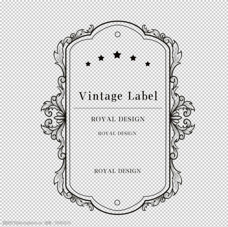 金属质感标签图片