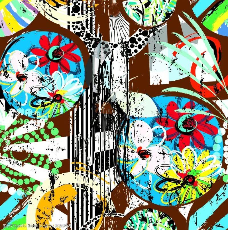 抽象图案抽象碎花图片