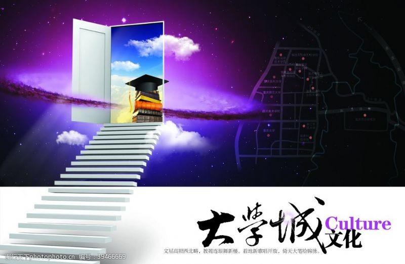 大学城地产海报图片