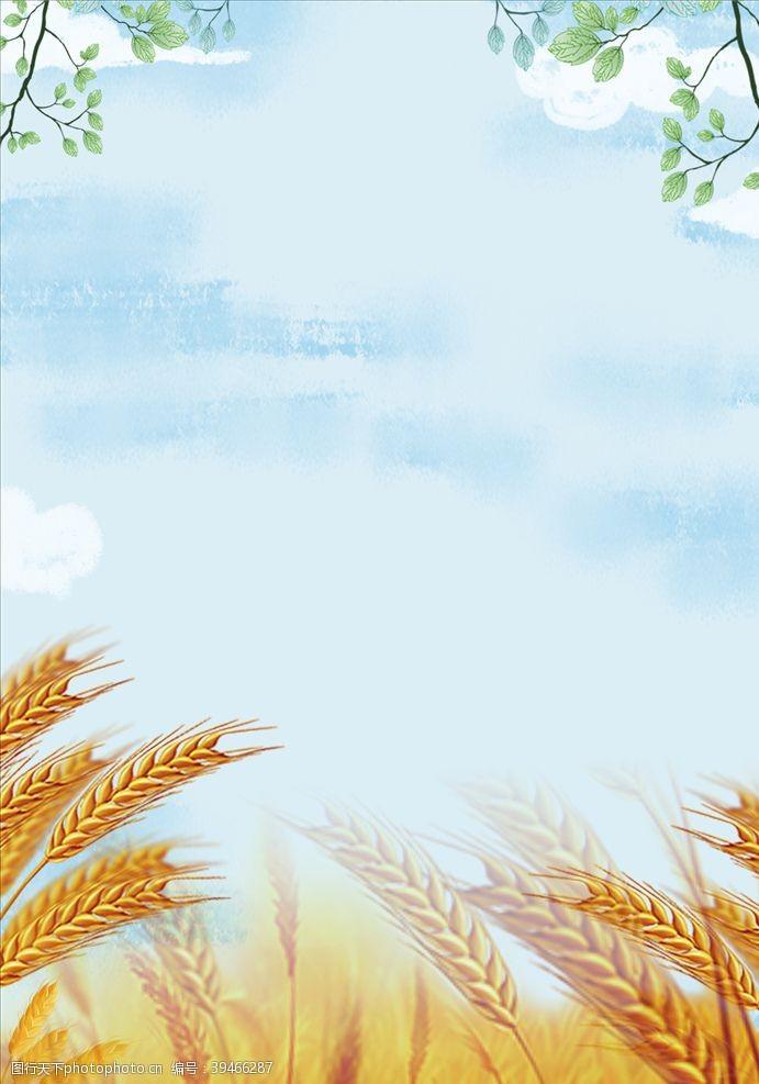 商务背景简约农业海边背景素材图片