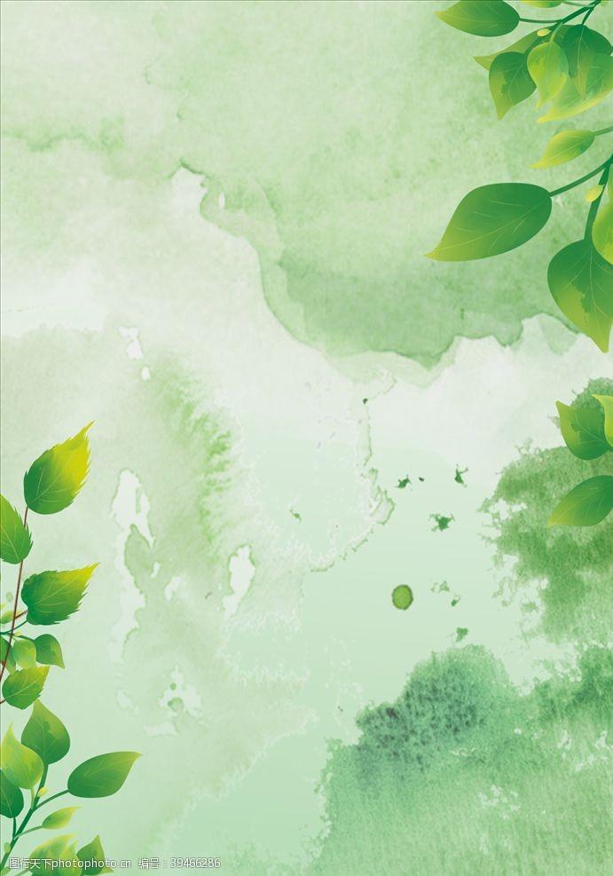 绿色简约商务背景素材图片