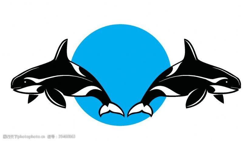 逆戟鲸标志图片