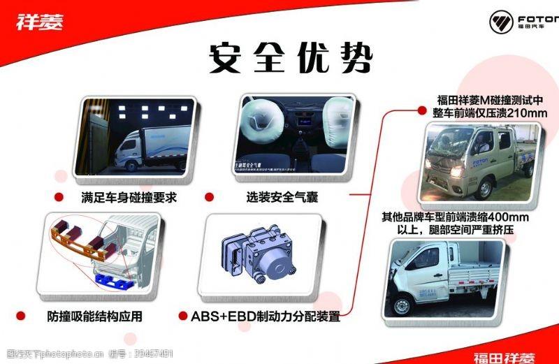 展板红色汽车安全优势图片