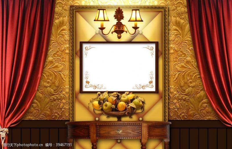 商务背景展板背景图片