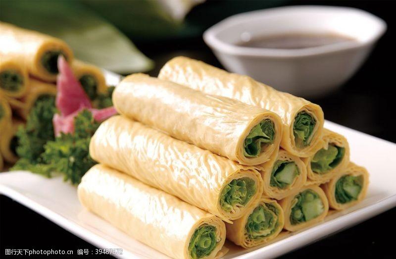 餐饮韩式生菜卷图片