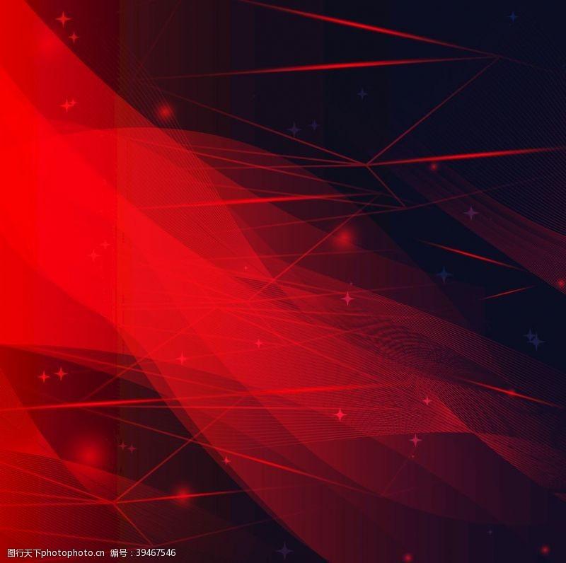红色科技感光线背景图片