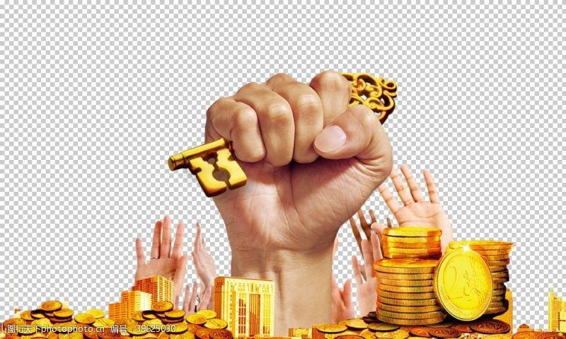 金钱符号金币图片