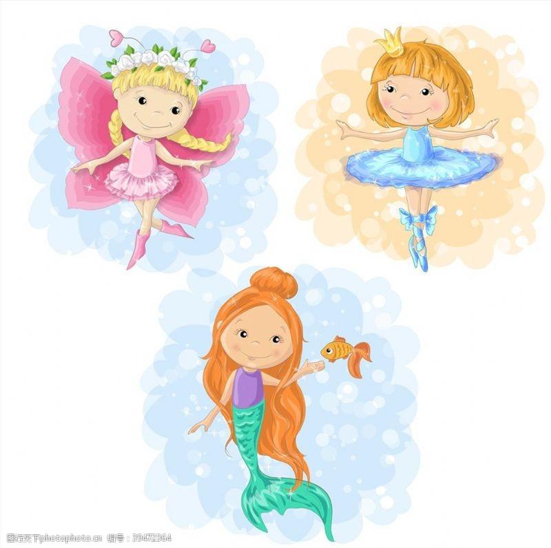 可爱的卡通女孩图片