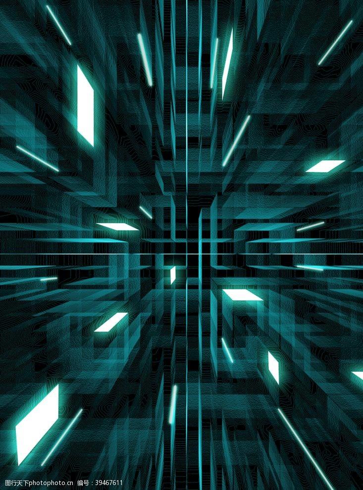 科技感线条光片背景图片