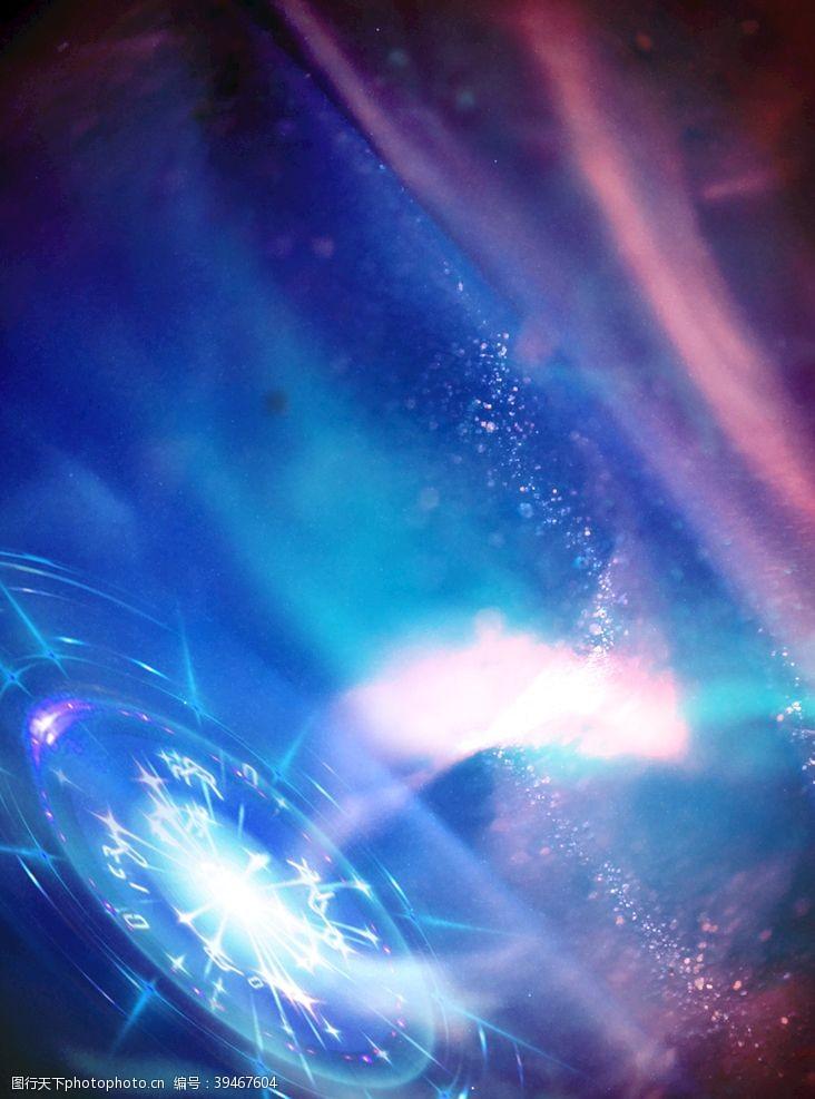 科技感宇宙炫光星河背景图片