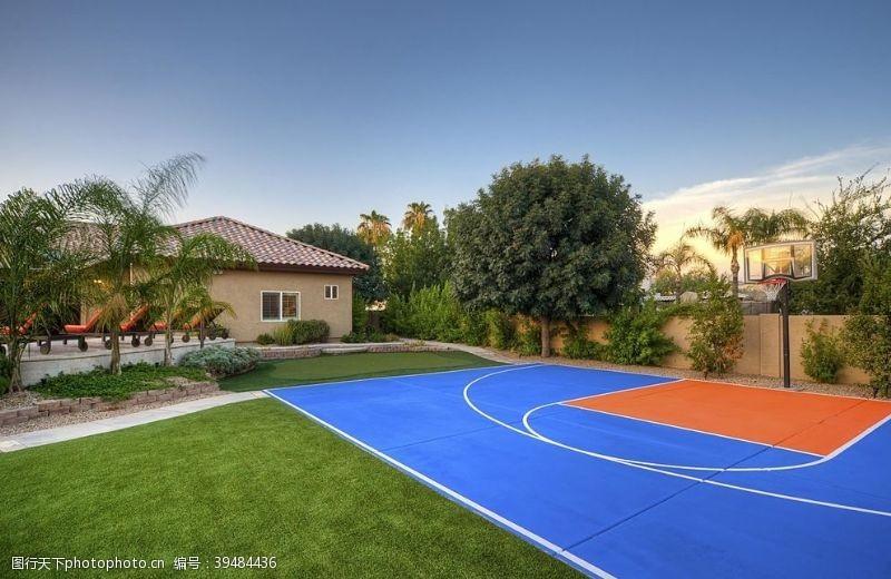城市建筑篮球场图片